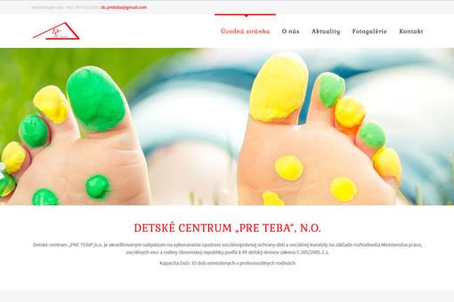 """Reference: Detské centrum """"PRE TEBA"""",n.o. - Prešov"""